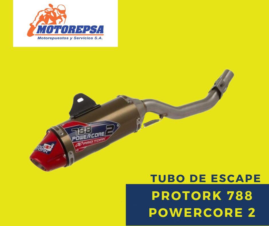 Tubo de Escape Completo PROTORK 788 POWERCORE 2 para MOTO HONDA TORNADO 250