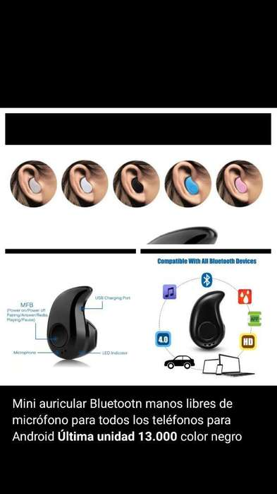 Mini Auricular Bluetooth Inalámbrico
