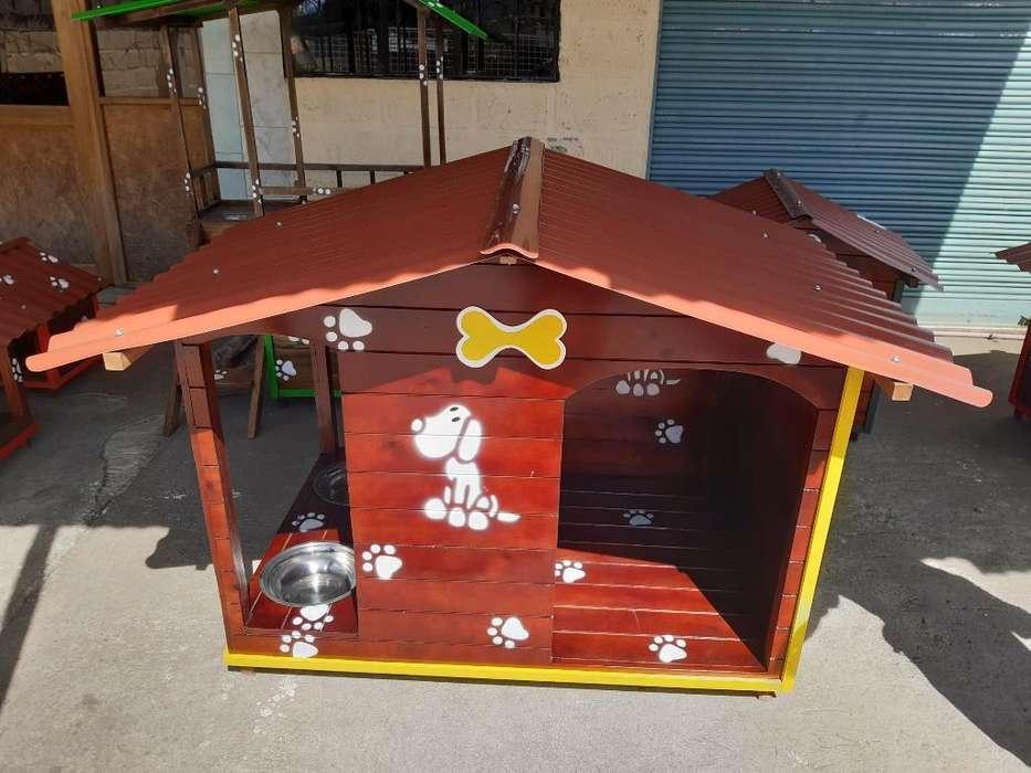 Casa para Perros de Madera