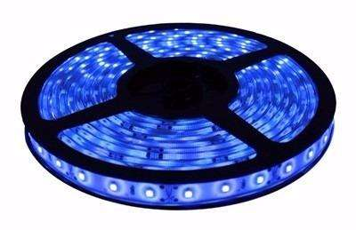 Tira Cinta Led Azul 5 mts. con trafo y adhesivo 50/50