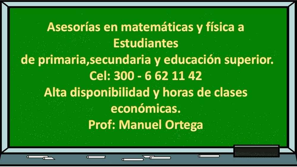 Asesorias en Matemáticas Y Física