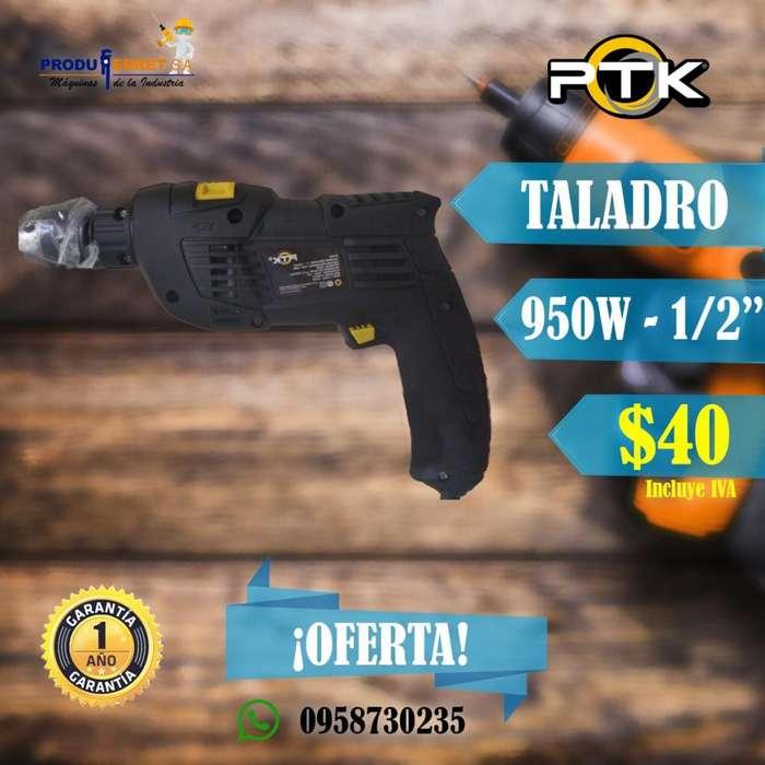 Taladro PERCUTOR INDUSTRIAL 950W PTK