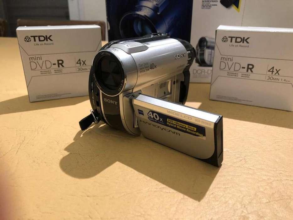 Filmadora Sony Dcr-dvd610, Zoom Óptico 40x, Minidvd Bolso