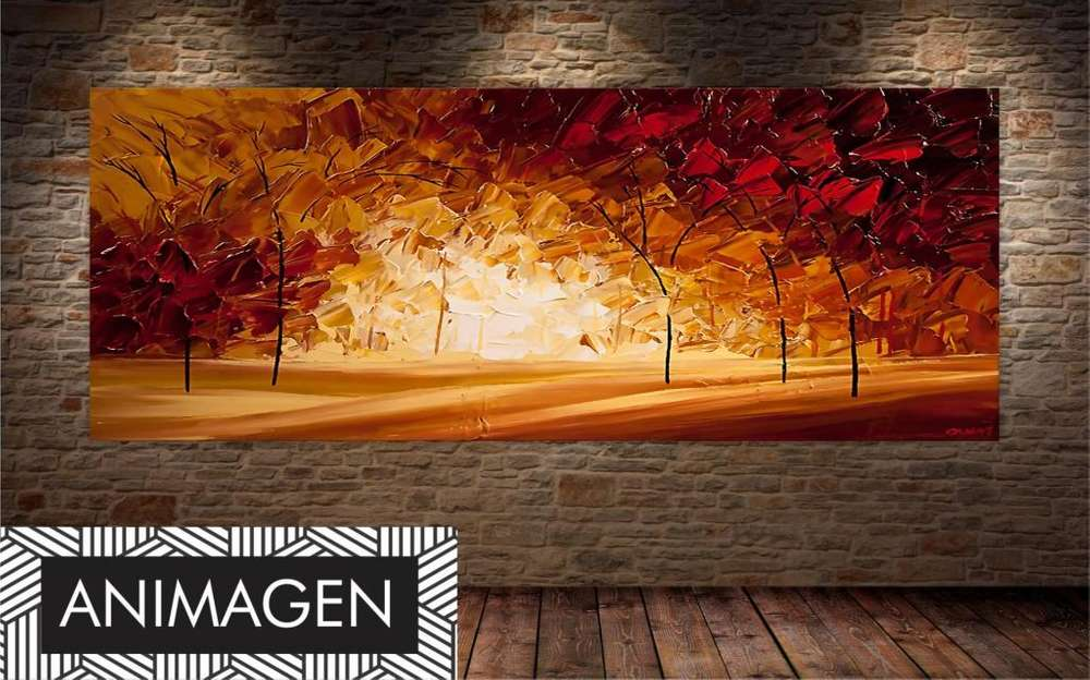 Cuadro decorativo bosque en otoño 2222