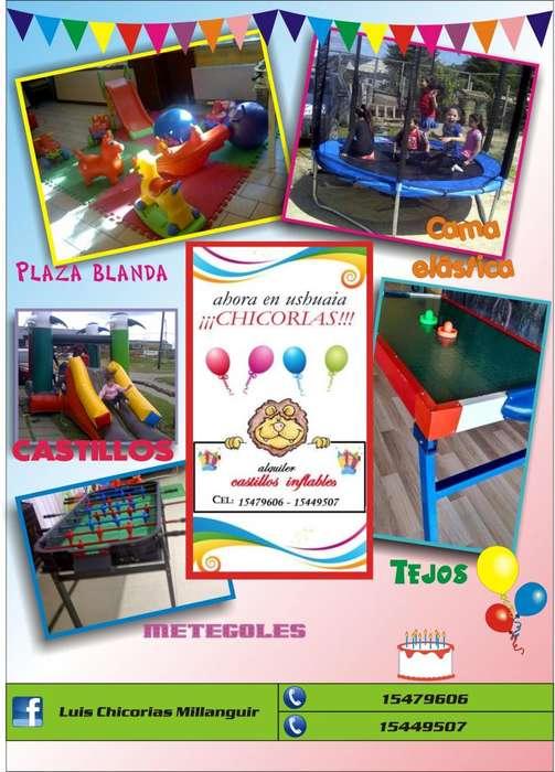 Alquiler de castillos inflables y juegos infantiles en Ushuaia