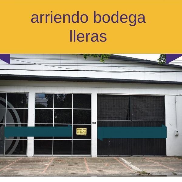 ARRIENDO BODEGA LLERAS