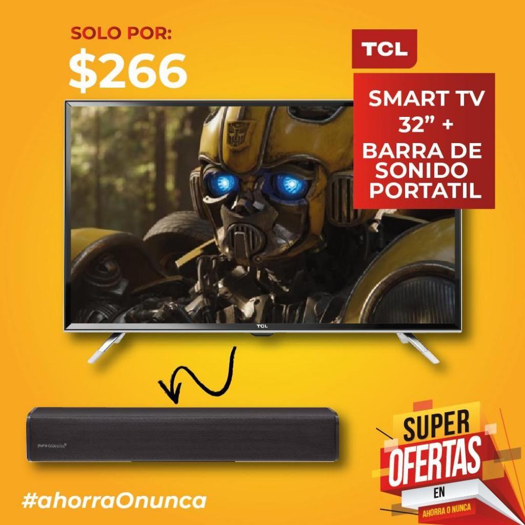 Tv de 32 Tcl Smart Barra de Sonido
