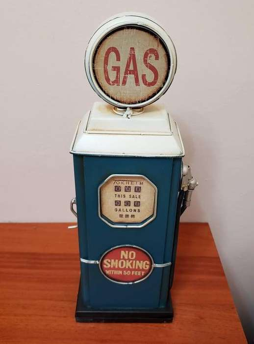 vendo alcancia dispensadora de gasolina vintage de metal