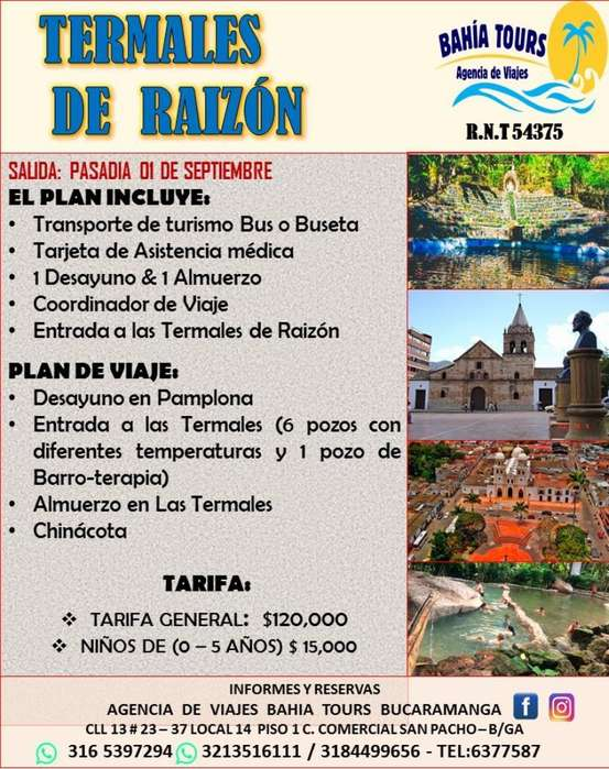 Tour Termales de Raizon Domingo 01 Septi