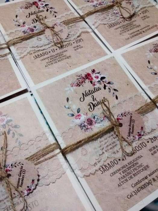 tarjetas e invitaciones buen precio Boda- Bautizos- Baby shower-Matrimonio- primera comunión