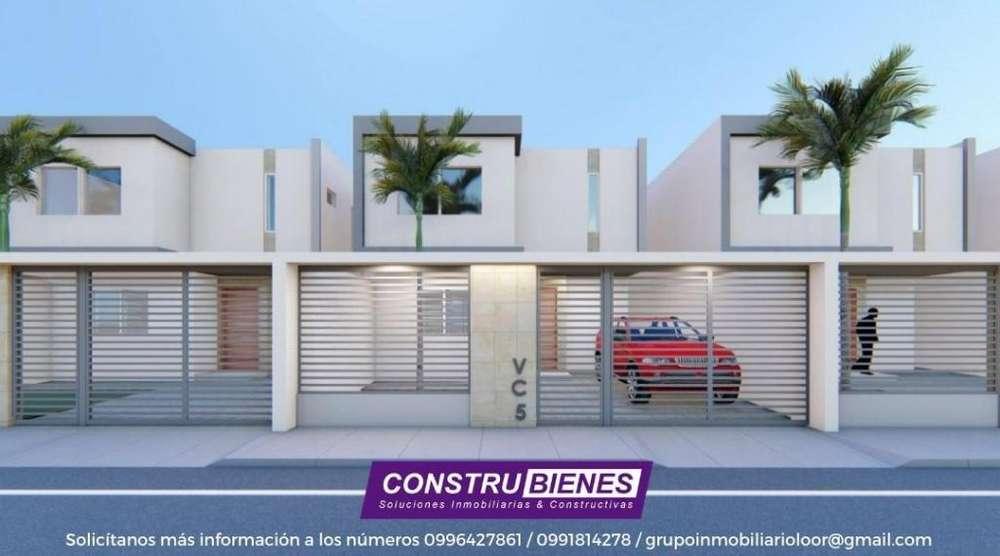 Se vende casas a estrenar CENTERARIO II excelente ubicación, Nuevo Ingreso a Manta