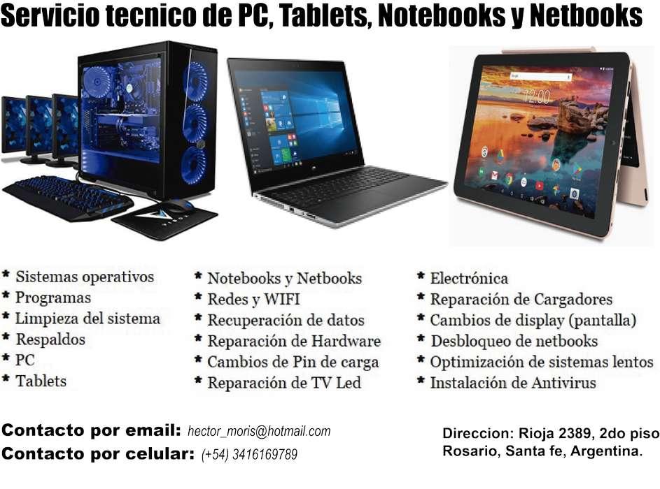 Reparacion pc, notebook, tablets Rosario 3416169789