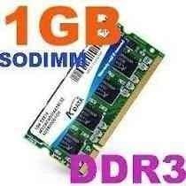 MEMORIAS SODIMM 1GB PARA NOTEBOOK Y NETBOOK VARIAS MARCAS Y MODELOS