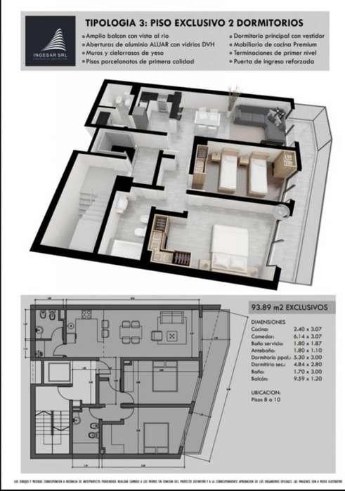 Departamentos de 2 dormitorio en Avellaneda 800 bis