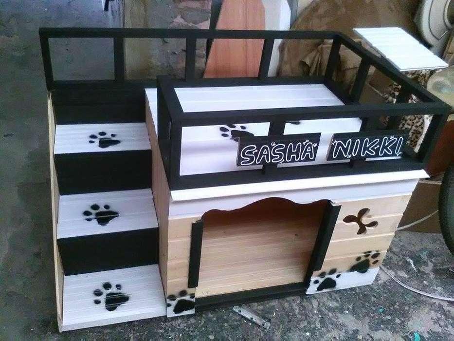 casas para mascotas en madera