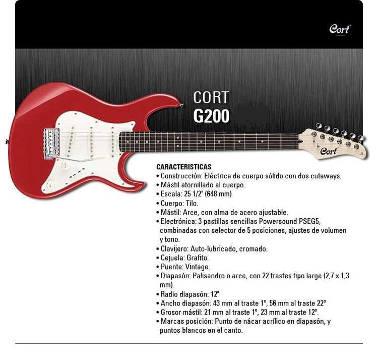 Guitarra Electrica Cort Modelo G200 Nueva Sin Uso