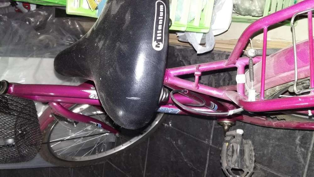 Bicicleta Dama 26 con canasto y porta equipaje