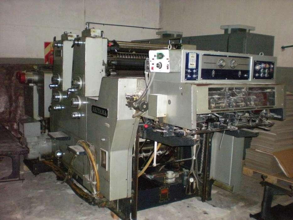 Impresora Akiyama HiAce 226 de 2 colores Año 1988