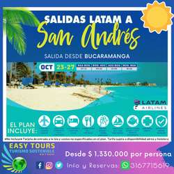 Viaje VIP San Andrés Islas. Salidas desde Bucaramanga vía LATAM