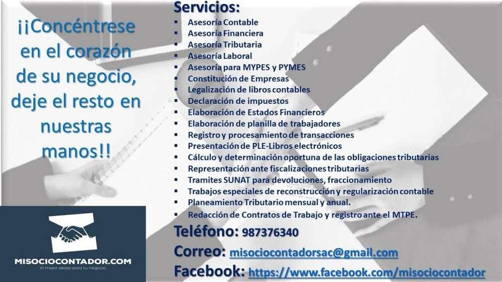 SERVICIOS CONTABLES, TRIBUTARIOS, LABORALES