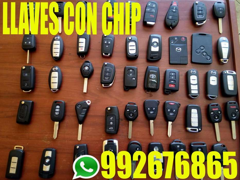 LLAVES CON CHIP Y CAMBIO DE CARCASAS DE LLAVES DE AUTOS
