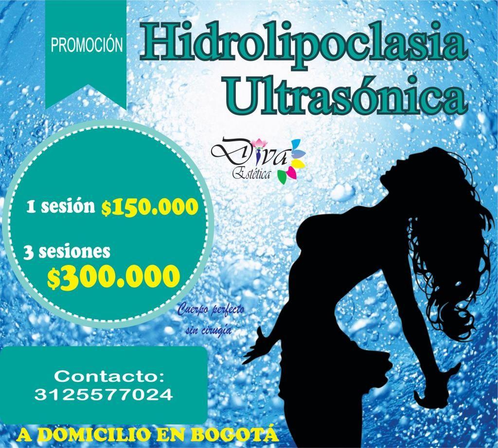 HIDROLIPOCLASIA ultrasonica con CARBOXITERAPIA