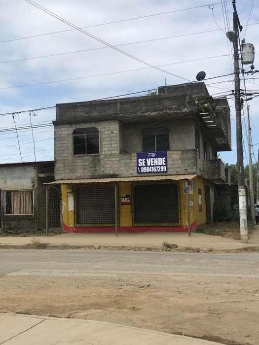 Vendo Propiedad esquinera en Chongon ideal para negocio casa rentera