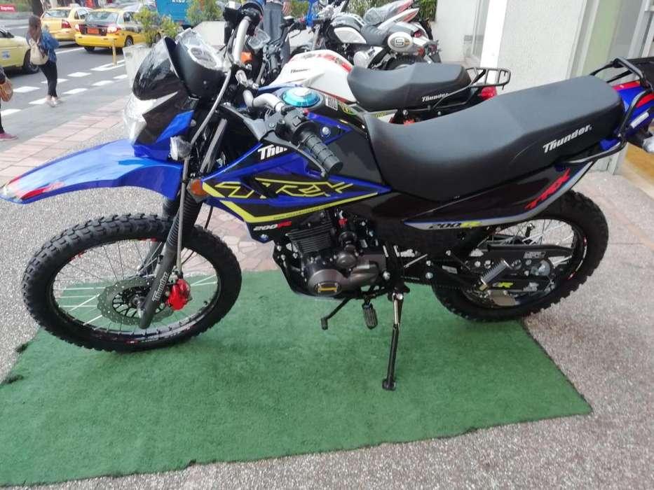 Vendo moto thunder trx 200 <strong>nueva</strong> ao 2019