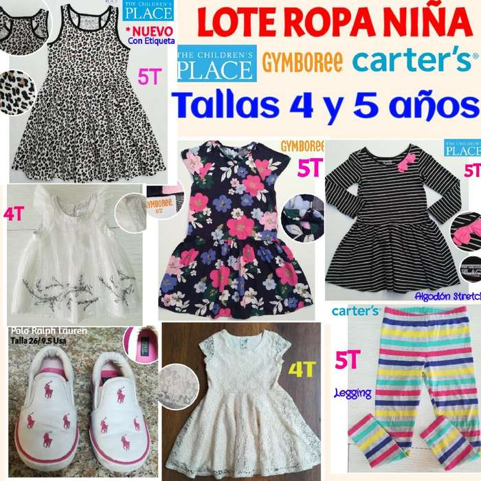 Lote de <strong>ropa</strong> Y Zapatos Niña Talla 4 Y 5