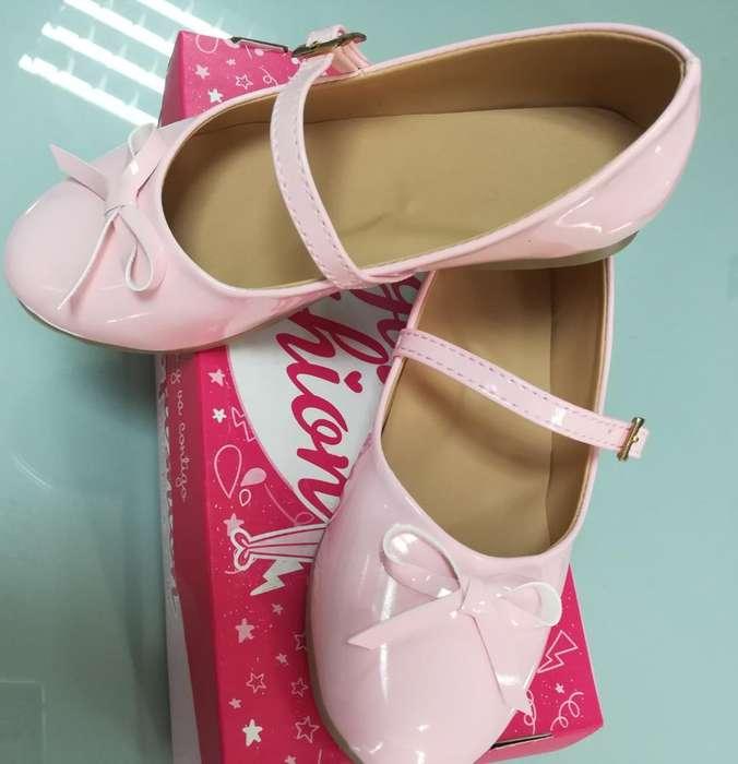Zapatos Niñas Charol Nuevo