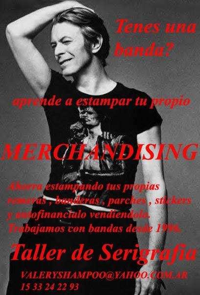 merchandising estampado de remeras rock, publicidad etc serigrafia