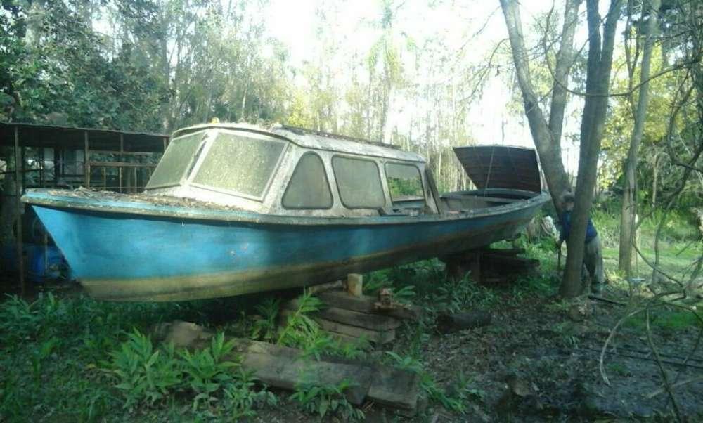 Lancha Isleña Acero Naval sin Motor