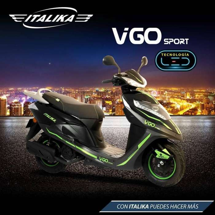 POTENTE PRECIOSA MOTO SCOOTER ITALIKA VGO SPORT GRAN ESTILO DEPORTIVO MOTOR 125 RADIO BLUETOOTH MP3 SD