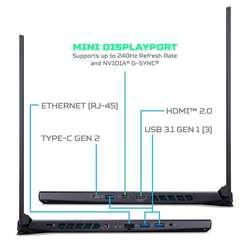 Laptop Gamer Acer Predator Helios 300 i7-9750h 16GB 256GB SSD Nvidia GeForce GTX 1660Ti