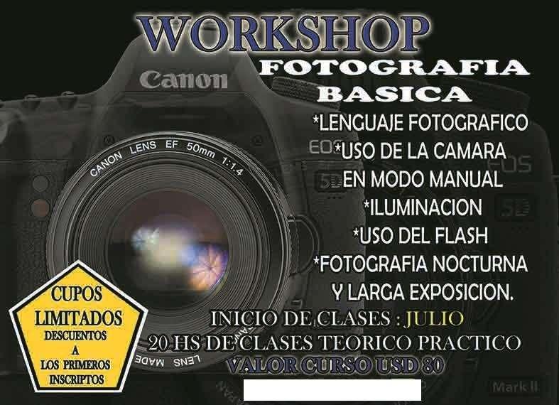 curso de fotografia PROMOCION 50 USD