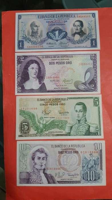 Colección 10 Billetes de Colombia