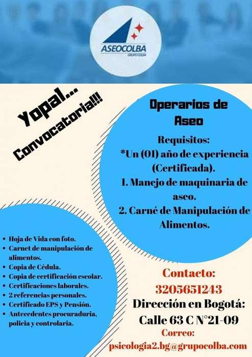 Operaria de Servicios Generales- Yopal