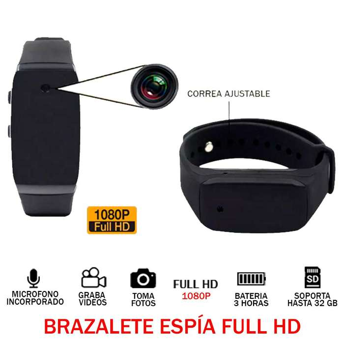 Camara Espia Brazalete Full Hd 1080p Audio Y Video Oculto