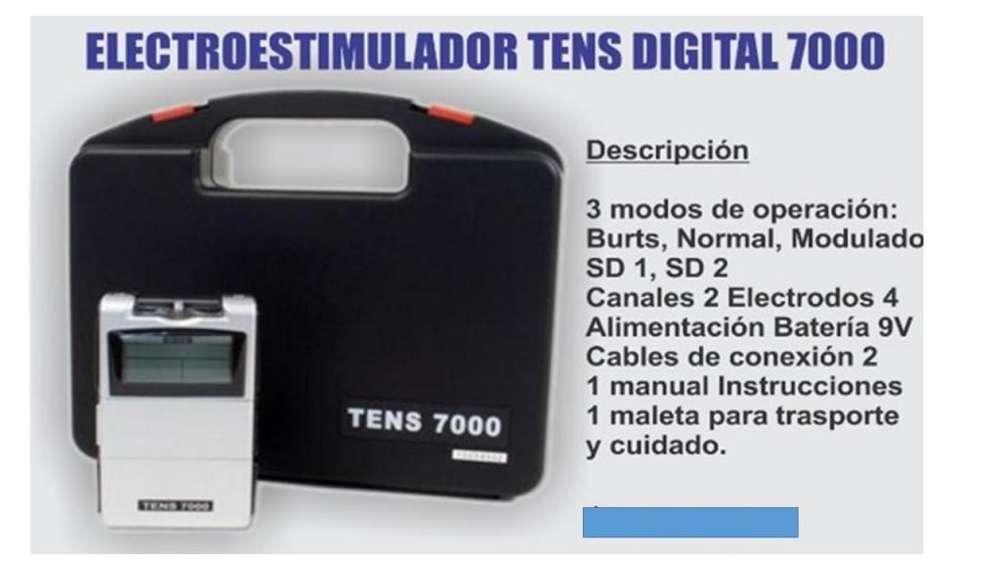 Tens 4 Electrodos digital electroestumulador 7000
