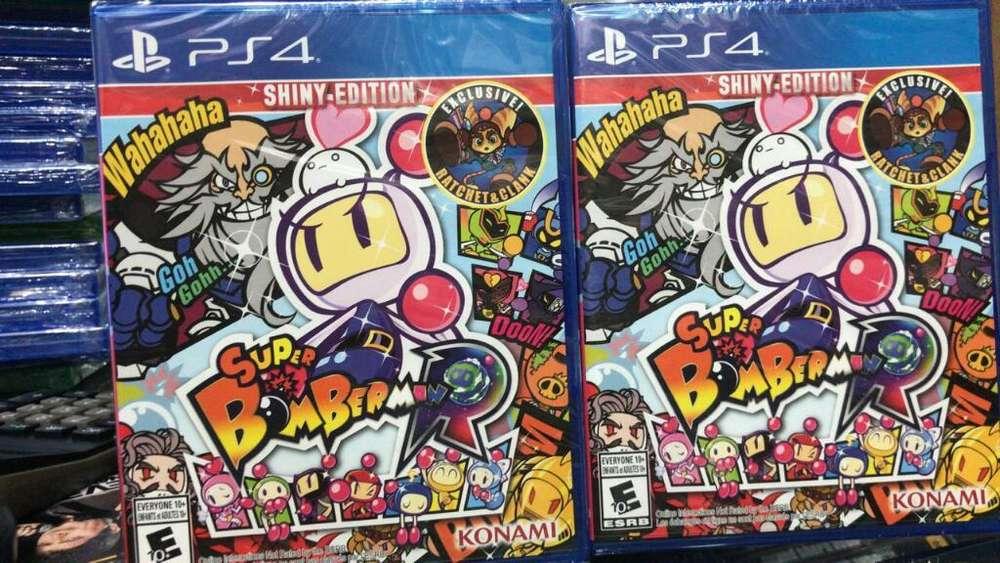 Super Bomberman R Shiny Edition Ps4 Nuevo Sellado Stock