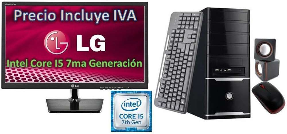 Computadora Cpu Intel Core I5 3.0 8va Gen 2tb 4gb Led 20 I7 PRECIO INCLUYE IVA ENTREGA A DOMICILIO