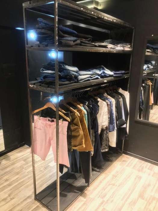 VendoPermuto EfectTarj Estanterías para ropa y Mostrador. Mobiliario Completo