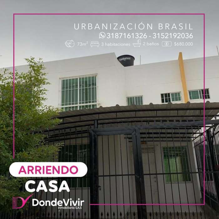 Arrendamos Casa en Urbanización Brasil
