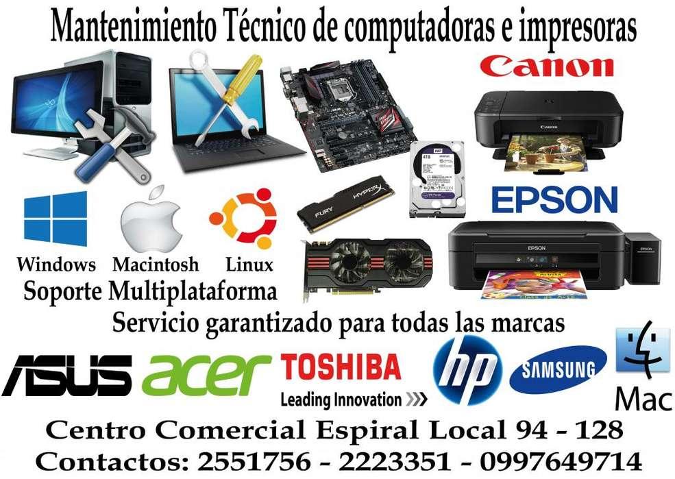 Servicio Tecnico Mac Laptop Pc Impresor