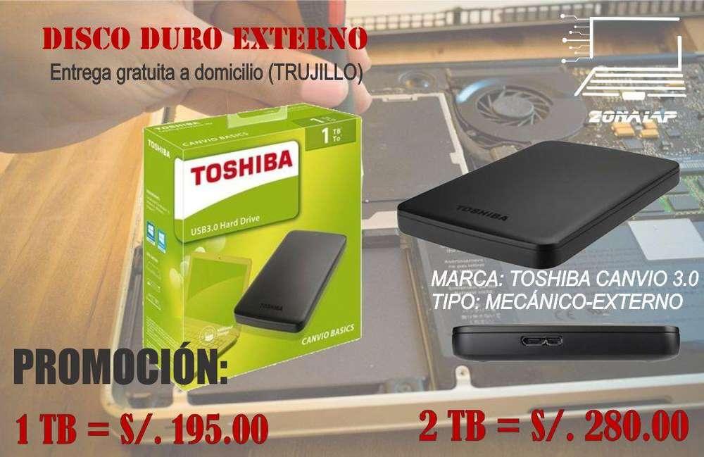 disco externo toshiba de 1tb / 2tb