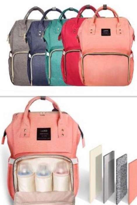 Bolso Mochila Maternal Land Original Imp
