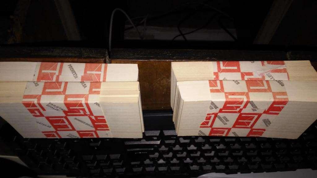 Lote de tarjetas Opalma