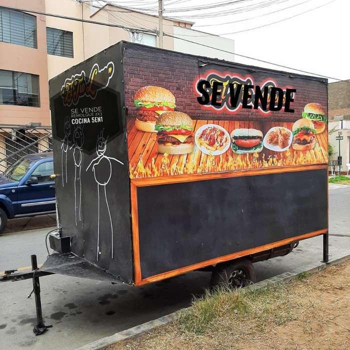 Carrito Remolque Food Truck Cart