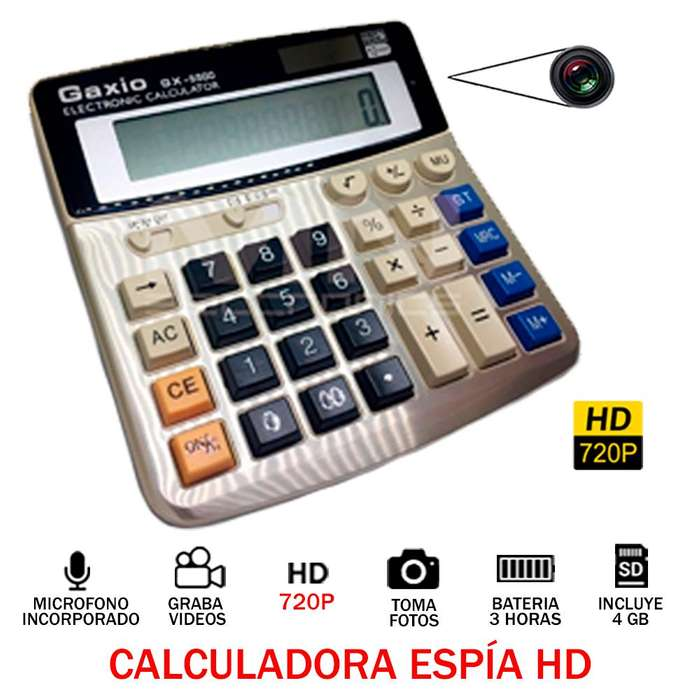 Calculadora Camara Espia 3h Hd 720p Audio Video Oculto