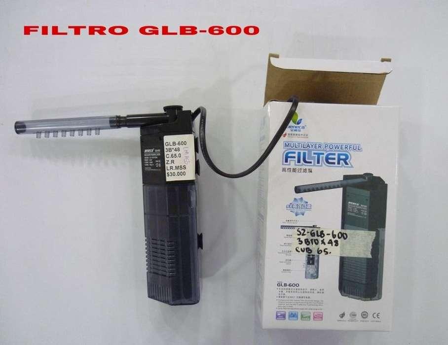 filtro para pecera GLB 600 NUEVO con capacidad de 150 litros por hora